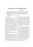 Tư tưởng trị nước của Nguyễn Bỉnh Khiêm