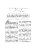 Các mô thức đồng dao trong thơ thiếu nhi Việt Nam hiện đại