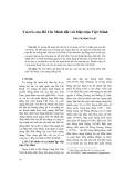 Vai trò của Hồ Chí Minh đối với Mặt trận Việt Minh