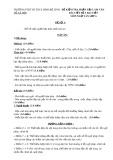 Đề kiểm tra phần Tập làm văn bài viết số 3 môn Ngữ văn lớp 6 - Thời gian: 90 phút