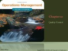 Lecture Operations management (11/e): Chapter 10 - William J. Stevenson