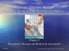 Lecture Massage therapy review: Passing the NCETMB, NCETM, and MBLEx (2/e): Chapter 4 - Laura A. Abbott