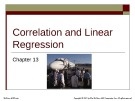 Lecture Basic statistics for business & economics (8/e): Chapter 13 – Lind, Marchal, Wathen