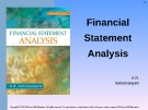 Lecture Financial statement analysis (11/e): Chapter 1 - K. R. Subramanyam