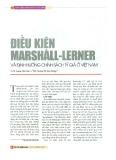 Điều kiện Marshall - Lerner và định hướng chính sách tỷ giá ở Việt Nam
