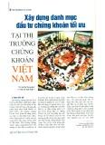 Xây dựng danh mục đầu tư chứng khoán tối ưu tại thị trường chứng khoán Việt Nam