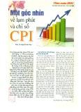 Một góc nhìn về lạm phát và chỉ số CPI