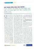 An toàn vốn của các NHTM - Thực trạng Việt Nam và giải pháp cho việc áp dụng Hiệp ước Tiêu chuẩn vốn Basell II & III