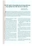 Phát triển ngành công nghiệp phụ trợ trong chiến lược công nghiệp hóa, hiện đại hóa ở Việt Nam