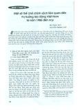 Một số thể chế chính sách liên quan đến thị trường lao động Việt Nam từ năm 1986 đến nay