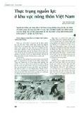 Thực trạng nguồn lực ở khu vực nông thôn Việt Nam