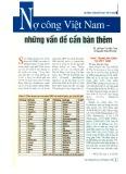 Nợ công Việt Nam - Những vấn đề cần bàn thêm
