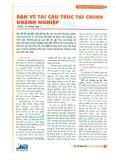 Bàn về tái cấu trúc tài chính doanh nghiệp