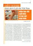 Điều hành chính sách tỷ giá của Việt Nam nhằm thúc đẩy xuất khẩu và hạn chế nhập khẩu