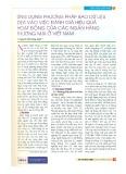 Ứng dụng phương pháp bao dữ liệu DEA vào việc đánh giá hiệu quả hoạt động của các ngân hàng thương mại ở Việt Nam