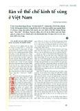 Bàn về thể chế kinh tế vùng ở Việt Nam