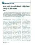Phát triển kinh tế tri thức ở Việt Nam - Cơ hội và thách thức