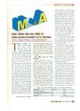M&A hoạt động của các công ty chứng khoán và nghiệp vụ tư vấn M&A