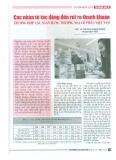 Các nhân tố tác động đến rủi ro thanh khoản - Trường hợp các ngân hàng thương mại cổ phần Việt Nam