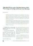 Hiệp định Đối tác xuyên Thái Bình Dương (TPP): Thực trạng, xu hướng và đối sách của Việt Nam