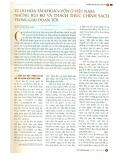 Tự do hóa tài khoản vốn ở Việt Nam: Những rủi ro và thách thức chính sách trong giai đoạn tới