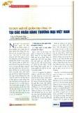 Tư duy mới về quản trị công ty tại các ngân hàng thương mại Việt Nam
