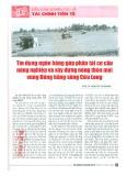 Tín dụng ngân hàng góp phần tái cơ cấu nông nghiệp và xây dựng nông thôn mới vùng đồng bằng Sông Cửu Long