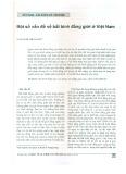 Một số vấn đề về bất bình đẳng giới ở Việt Nam