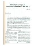 Thâm hụt thương mại: Phân tích từ cách tiếp cận liên thời kỳ