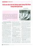 Xử lý nợ xấu của hệ thống ngân hàng Việt Nam trong thời gian qua