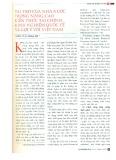 Vai trò của Nhà nước trong nâng cao kiến thức tài chính: Kinh nghiệm quốc tế và gợi ý với Việt Nam