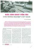 Giải cơn khát vốn FDI cho nông dân Việt Nam