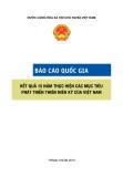 Báo cáo quốc gia: Kết quả 15 năm thực hiện các Mục tiêu phát triển Thiên kỷ của Việt Nam