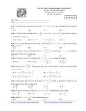 20 câu trắc nghiệm khảo sát hàm số và các vấn đề liên quan