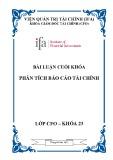 Bài luận cuối khóa: Phân tích báo cáo tài chính Công ty cổ phần xây dựng và kinh doanh vật tư