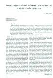 Mối quan hệ giữa chính sách tài khóa, chính sách tiền tệ và đầu tư tư nhân tại Việt Nam
