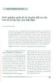 Kinh nghiệm quốc tế về chuyển đổi cơ cấu kinh tế và bài học cho Việt Nam