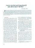 Vai trò của chính phủ trong ứng phó biến đổi khí hậu ở Việt Nam