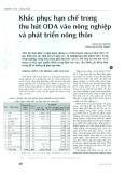 Khắc phục hạn chế trong thu hút ODA vào nông nghiệp và phát triển nông thôn