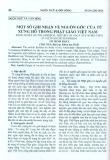 Một số ghi nhận về nguồn gốc  từ xưng hô trong Phật giáo Việt Nam