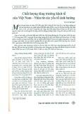 Chất lượng tăng trưởng kinh tế của Việt Nam - Nhìn từ các yếu tố ảnh hưởng