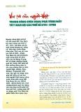 Vai trò của người Việt trong công cuộc khai phá vùng đất Tây Nam bộ các thế kỷ XVII - XVIII