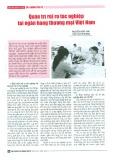 Quản trị rủi ro tác nghiệp tại ngân hàng thương mại Việt Nam