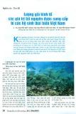 Lượng giá kinh tế các giá trị tài nguyên được cung cấp từ các hệ sinh thái biển Việt Nam