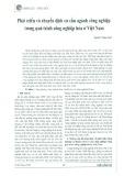 Phát triển và chuyển dịch cơ cấu ngành công nghiệp trong quá trình công nghiệp hóa ở Việt Nam