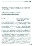 Tái cấu trúc các tổ chức kinh doanh chứng khoán tại Việt Nam