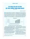 Tác động của đầu tư công với tăng trưởng trong nông nghiệp