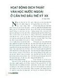 Hoạt động dịch thuật Văn học nước ngoài ở Cần Thơ đến đầu thế kỷ XX