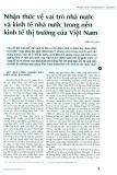 Nhận thức về vai trò Nhà nước và nền kinh tế nhà nước trong nền kinh tế thị trường của Việt Nam