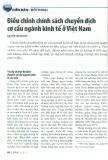 Điều chỉnh chính sách chuyển dịch cơ cấu ngành kinh tế ở Việt Nam